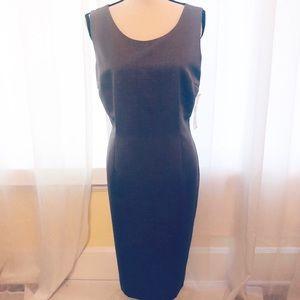 Kasper NWT Solid Pearl Gray Shirt Dress